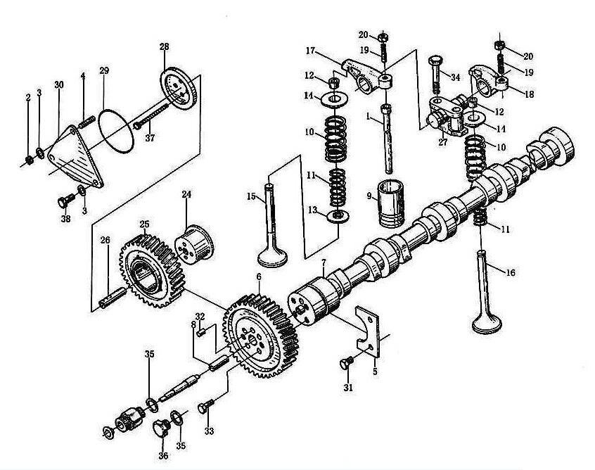 VALVE MECHANISM, WD615-II, SINOTRUK HOWO SPARE PARTS CATALOG