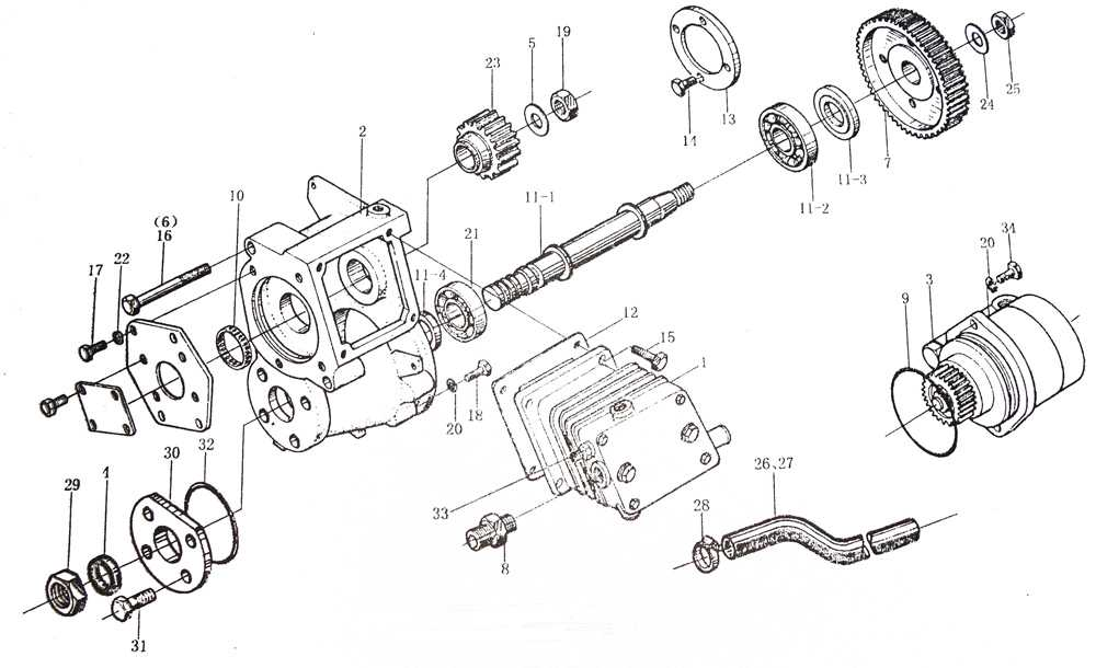 AIR COMPRESSOR, WD615-II, SINOTRUK HOWO SPARE PARTS CATALOG