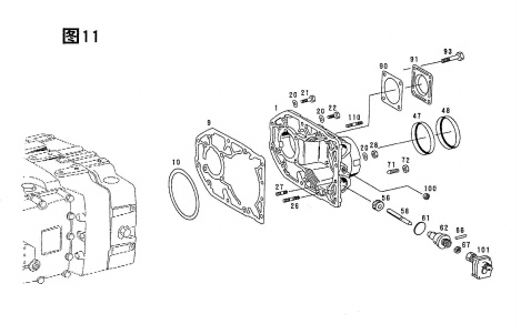 REAR HOUSING ASSY, 5S-150GP ZF PARTS CATALOG - ZF5S-150GP
