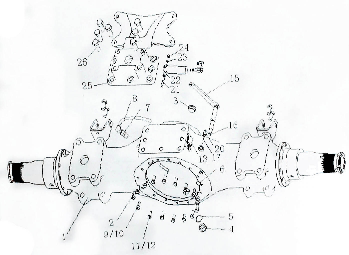 REAR DRIVING AXLE CASE, SINOTRUK HOWO SPARE PARTS CATALOG