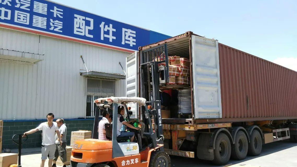Container Loading -sinotruk howo parts