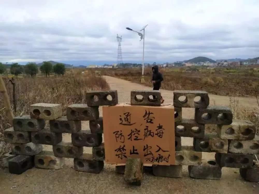 3- virus wuhan china, villages block, roads blocked