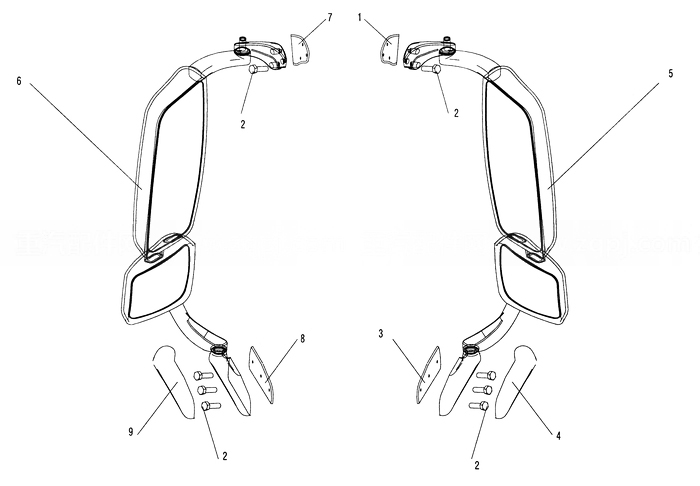 Rear View Mirror, howo truck cabin parts catalog pdf.