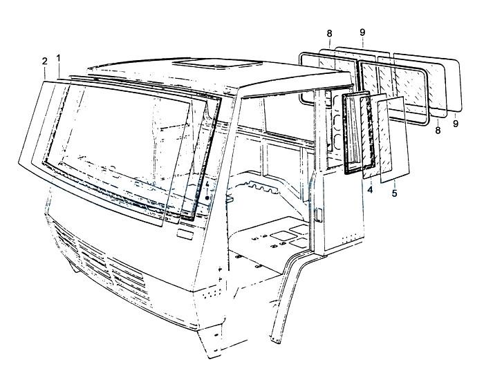glasses, Howo Truck Cabin Parts Catalogs